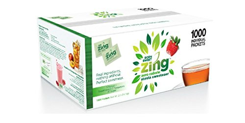 Born Sweet Zing Zero Calorie Stevia Sweetener Packets, 1000 Count (Pack of 1)