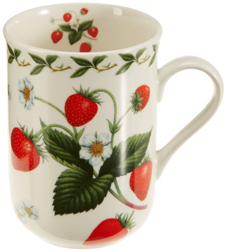 Maxwell & Williams PB8007 Orchard Fruits Becher, Kaffeebecher, Tasse, Motiv: Erdbeere, in Geschenkbox, Porzellan