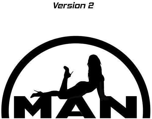 Generic Man Logo Mit Sexy Girl Lady Mädchen Aufkleber Sticker 2 Versch Versionen Schwarz Version 2 Auto