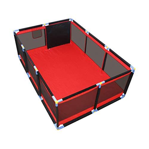 WAKTN Baby Park Peuter Hek, Snelle installatie, Geschikt voor pasgeborenen/baby's/kinderen Grote Indoor Speeltuin (rood)
