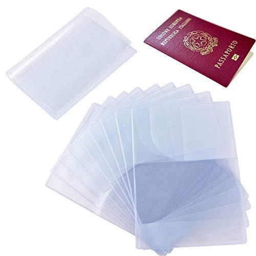 10pcs Funda de Pasaporte Transparente Cubierta de Pasaporte