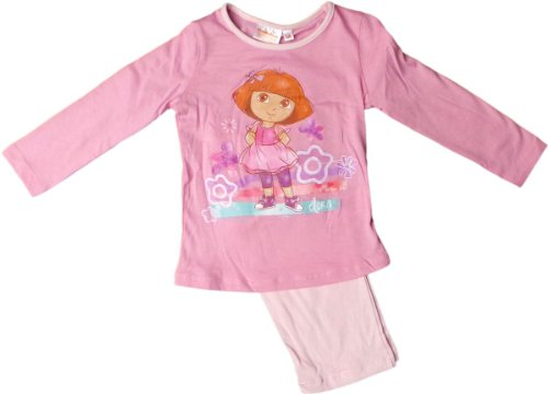 Dora Schlafanzug - Dancing Dora - Rosa/Mehrfarbig