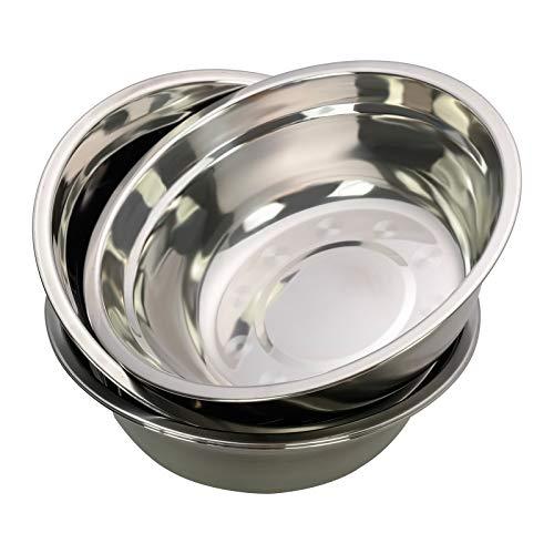 Dehouse Ciotole da cucina in confezione da 4, ciotola per mescolare in metallo in acciaio inossidabile