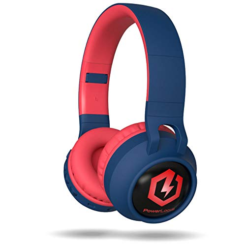 PowerLocus Wireless Bluetooth Headphones for Kids, Kid Headphone Over-Ear with LED Lights, Foldable Headphones with Microphone,Volume Limited, Wireless and Wired Headphone for Phones,Tablets,PC,Laptop