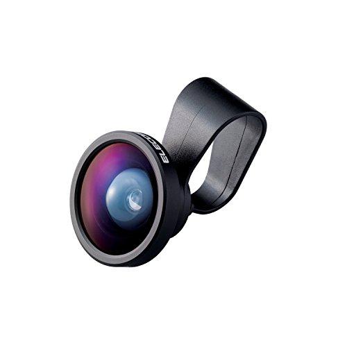 エレコム自撮りセルカレンズ0.4倍広角レンズスーパーワイドスマホ用ブラックP-SL04BK