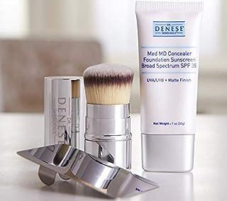 Dr. Denese SkinScience Med MD Concealer Foundation SPF 35 & Application Brush Made with Peptides, Hydrolyze...