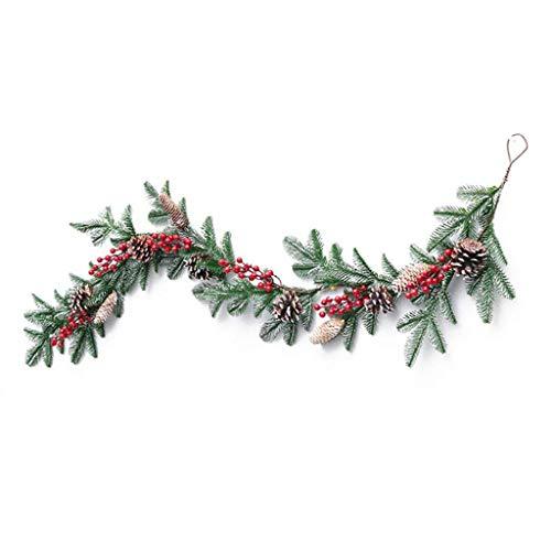 JIAL Weihnachten Rattan Girlande Tannenzapfen hängen Kamin Weihnachtsbaum Home Decor Fenstertür Anhänger für Hochzeit Hintergrund Wanddekoration Chongxiang