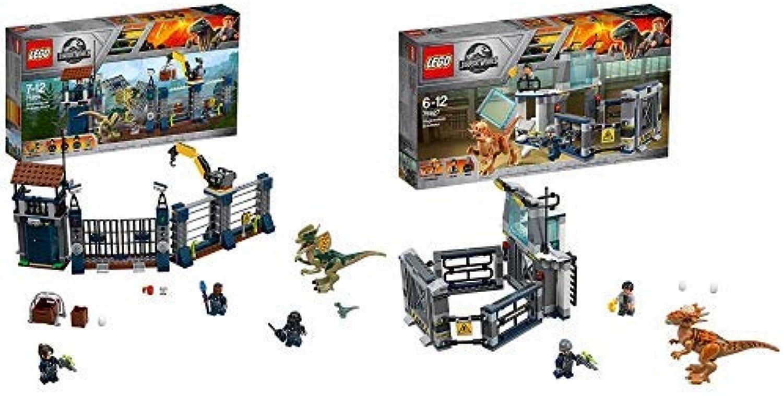 LEGO  Jurassic World  Angriff des Dilophosaurus 75931 Dinosaurier-Set &   Jurassic World  Ausbruch des Stygimoloch 75927 Unterhaltungsspielzeug für Jungen und Mädchen B07PN55XQJ  Eleganter Stil | Produktqualität