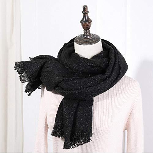 gao faux kasjmier winter gele gember sjaal voor vrouwen wol poncho zwart effen vrouw sjaal sjaal