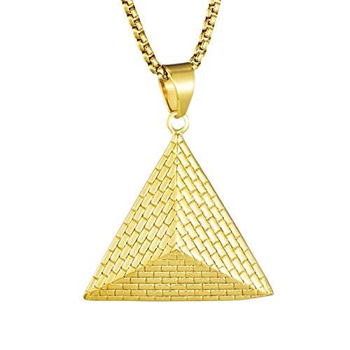 N/X Ägyptischer Pyramidenhalskettenanhänger aus Edelstahl Mystic Ancient Egyptian Pharaoh Pyramid Ornament
