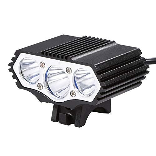 Bike Front Light, 3600lm USB Led Aluminum Alloy Bicycle Headlight with Rubber Ring for Outdoor Night Riding
