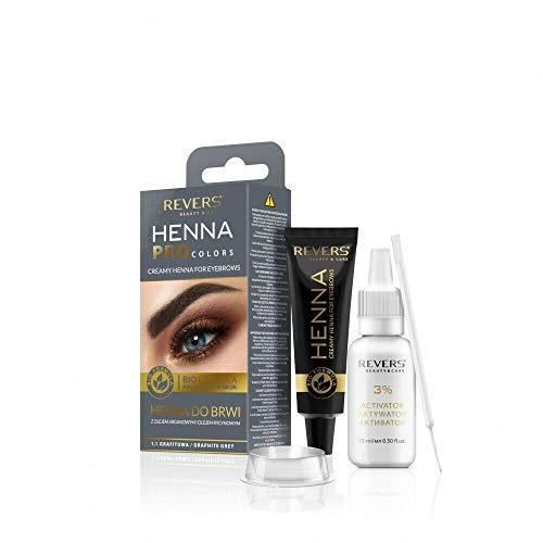 Augenbrauenfarbe Graphite Grau Henne kit mit Arganöl und Rizinusöl