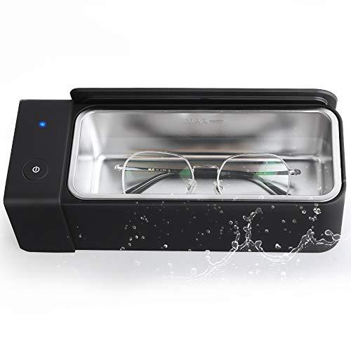 Mini Ultrasonic Cleaner 600ml - 50khz Low Noise Professional Sonic Jewelry Cleaner Machine For Parts Denture Gun Eyeglasses Rings Retainer