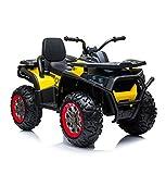 Media Wave Store - Quad ATV 2.0 LT898 Moto Quad Elettrico per Bambini MP3 4 ammortizzatori (Giallo)