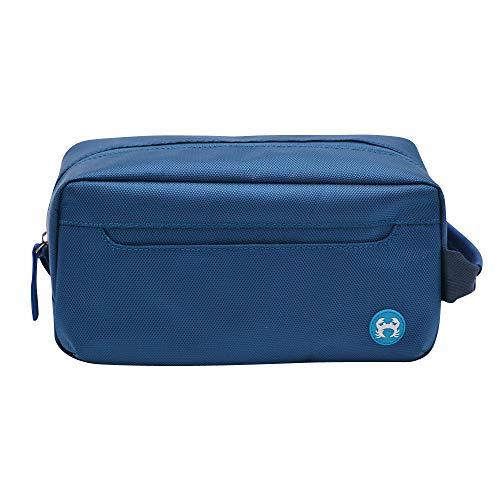 BagSy Crab Your Bag - Neceser de Aseo Organizador de Maquillaje | Kit Organizador Portátil de Viaje | Neceser de Viaje Elegante, Moderno, Ultraligero, Impermeable y Espacioso (Azul)
