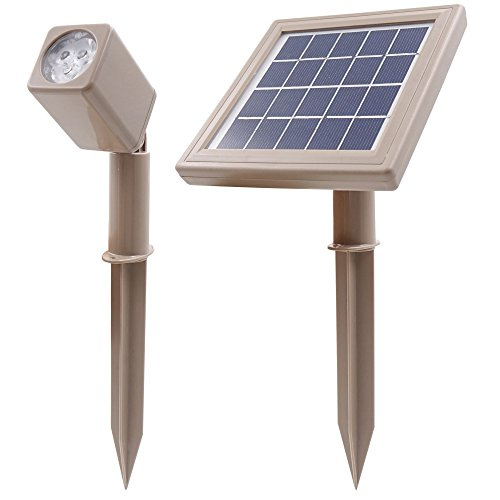 HEX 50X Solar Strahler Warmweiß LED für Outdoor Garten Hof Landschaft Downlight