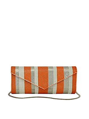 Whiting & Davis Stripes Clutch