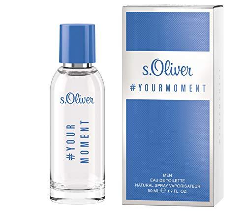 s.Oliver® Your Moment Men I Eau de Toilette - aromatisch, frischer Duft mit voller Ausstrahlungskraft I 50ml Natural Spray Vaporisateur