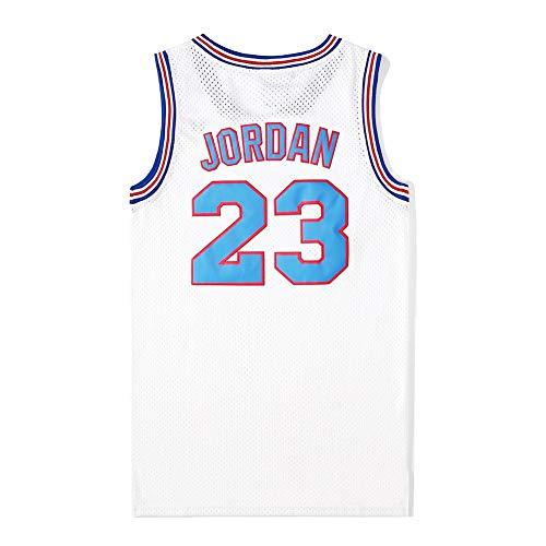 Camiseta de baloncesto para hombre Jordan #23 Space Movie Jam Jersey, Retro Camiseta de verano bordada Tops Boy Swingman Baloncesto sin mangas, regalo de cumpleaños