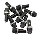 Magic&shell 10PCS Black AC 125V/15A 250V/10A Electrical Panel Mounted 6X30mm Fuse Holder Glass Fuse Tube Protector