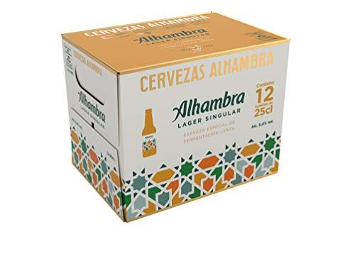 Alhambra - Especial Cerveza Dorada Lager, 5.4% Volumen de Alcohol - Pack de 12 x 25 cl