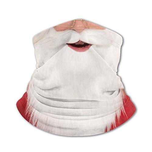 Breathable Bandana Neck Gaiter Santa Claus Beard And Mustache (4) Balaclava Face Mask Wind & Uv Sun-Protection Festivals