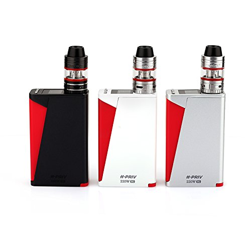 100% Authentic SMOK H-Priv TC 220W w/ Micro TFV4 Tank Full Kit , 3 colors & 2.5ml & 3.5ml (Black)