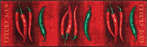 Bavaria Home Style Collection Tapis de cuisine de qualité supérieure - Lavable - Rouge - Dimensions : 60 x 180 cm