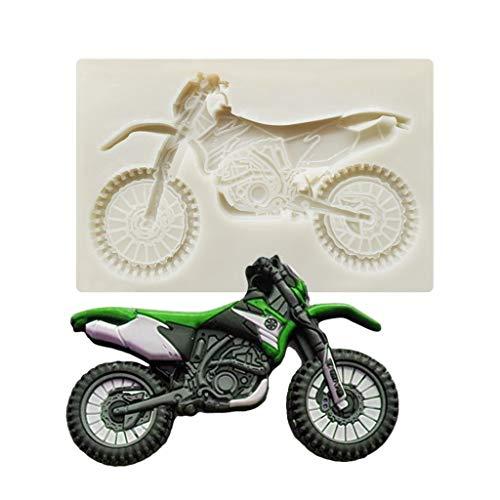 Abcidubxc 3D-Motorrad-Antihaft-Silikon-Fondantform, Schokoladenform, DIY-Kuchendekorationsform, Wiederverwendbar