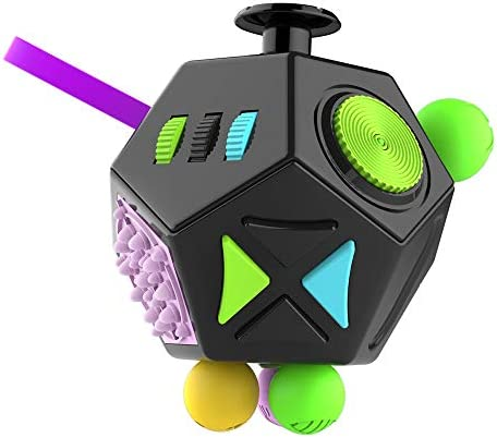 MOSHNOLY Fidget Cube Toys 12 Sided Desk Dodecagon Anti Decompression Relieves Stress and Anxiety product image