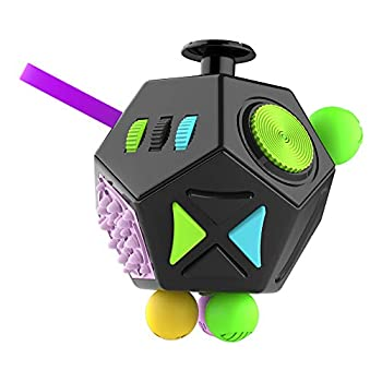 MOSHNOLY Fidget Toys 12 Sided Desk Dodecagon Anti Decompression Relieves Stress and Anxiety for Kids,Teens and Adults with ADD OCD ADHD Autism