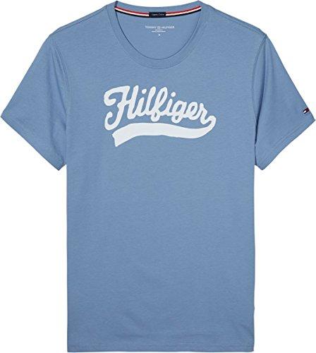 Tommy Hilfiger Underwear - Organic Cotton Cn Tee Ss Print, Maglietta da uomo, faded denim-eu 463, MD