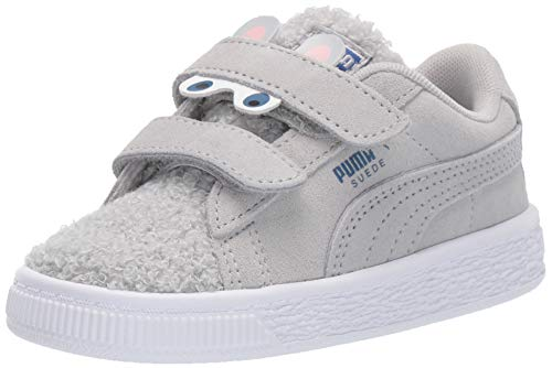 PUMA Baby Suede Winter Monster Hook and Loop Sneaker, High Rise-Galaxy Blue, 9 M US Toddler