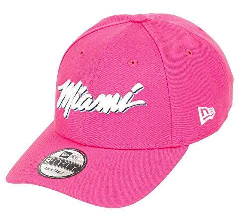 New Era Miami Heat 9forty Adjustable Snapback Cap NBA Essential Pink/White - One-Size