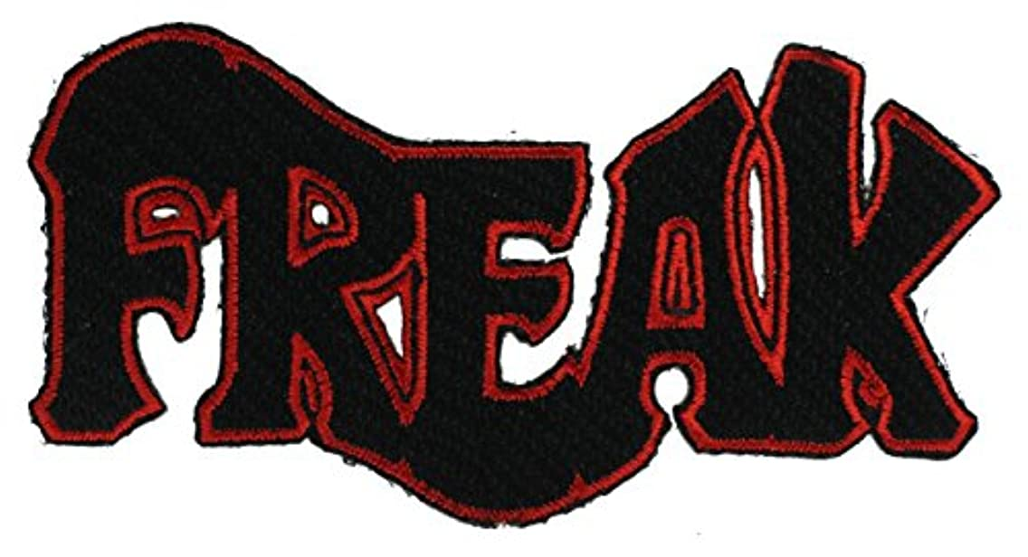 Freak script 4 inch Patch NOVAfreak1