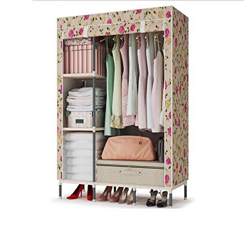 Armario portátil con estantes de almacenamiento plegable, extra fuerte y duradero, ropa de armario para ropa, zapatos, 111 x 46 x 167 cm (color: C)