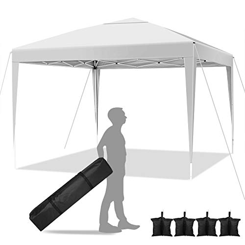 YUEBO 3x3 Garden Gazebo Marquee Tent Heavy Duty Gazebo, Waterproof Awning Canopy with Gazebo Sand Weights Set of 4