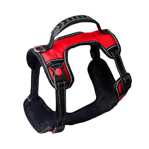 PEXIONGBD Hundegeschirr Mit Tragegriff FüR Hunde Reflektierendes Geschirr Verstellbare Hundeweste FüR Outdoor, Training Sicher Kontrolle,L