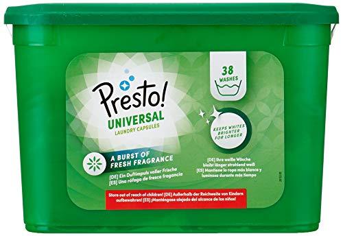 Amazon-Marke: Presto! Pods  Universal Waschmittel 152 Waschgänge  (4 x 38 Waschladungen)