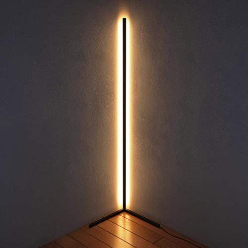 Eck-Stehlampe mit Fernbedienung, LED-Minimal-Lampe, LED-Stehlampen für nordische Designer-Stative, für Wohnzimmer-Schlafzimmer-Studio