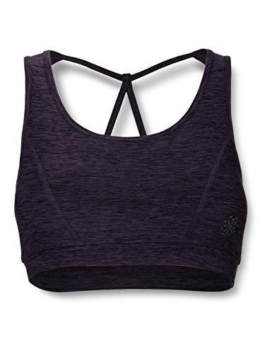 Amazon-Marke: AURIQUE Damen Sport-BH Low Impact Strappy, Lila (Nightshade Marl), XL, Label:XL