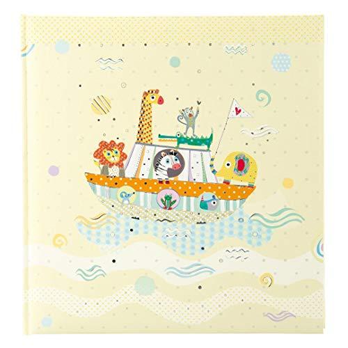 Baby-Tagebuch, Baby-Album, Photoalbum von Turnowsky - hochwertige und einmalige Designs (Schiff mit Dschungeltieren, Babyalbum)
