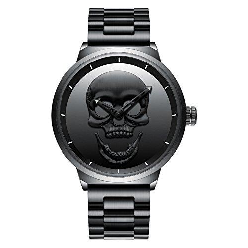 SHOUB Tide Men's Watch Steel Belt Men's Orologio da Uomo al Quarzo