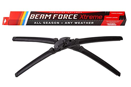 "Beam Force XTREME 26""+22"" Wiper Blades w/Japanese Fukoku Rubber for Longest Life, 6-MO Warranty (Pair)"