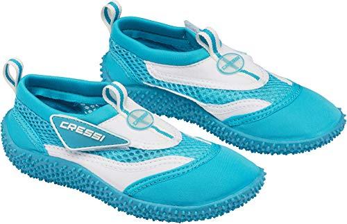 Cressi Coral Jr - Kinder Badeschuhe für Pool und Strand, Mehrfarbig (Hellblau/Weiß), 30 EU