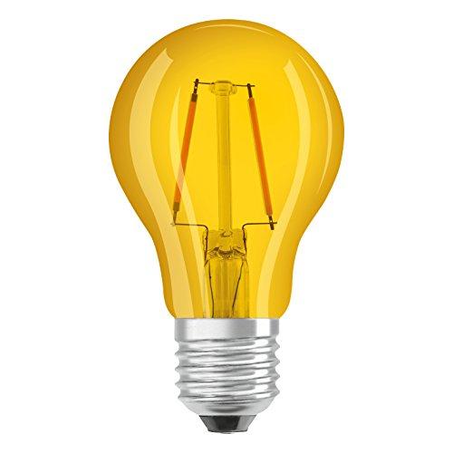 Osram LED Star Classic A Décor Yellow Lampe, in Kolbenform mit E27-Sockel, Dekoratives gelbes Licht und Design, Ersetzt 2,5 Watt, 1er-Pack