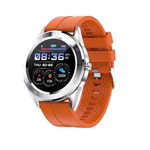 GTJXEY Smart Watch Bluetooth Anruf Sport Fitness Band Herzfrequenz-Blutdruck-Test Männer Musik-Uhr-Frauen,A
