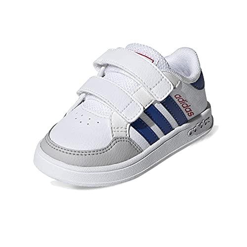adidas Jungen Unisex Kinder BREAKNET I Sneaker, FTWR White/Team royal Blue/Vivid red, 25 EU