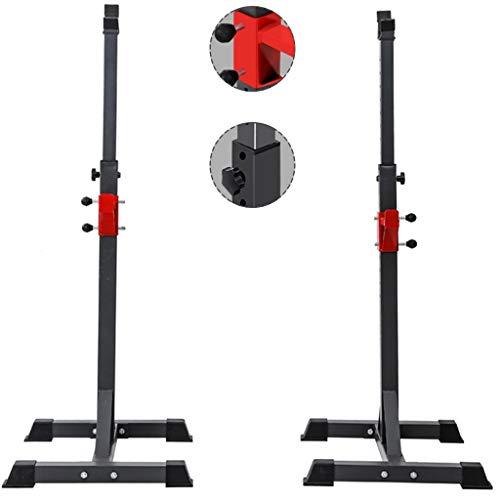 Cages de squat Barre de Traction Banc de Presse Porte-haltères de Fitness pour Hommes Étagère multifonctionnelle Support réglable Gym à Domicile Stand de Musculation