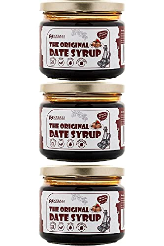 NABALI FAIRKOST The Original Date Syrup I sirope creado 100% con dátiles Sukkari I vegano y sin lactosa I Fairtrade I jarabe sin aditivos artificiales I sin aceite de palma I 3x330g